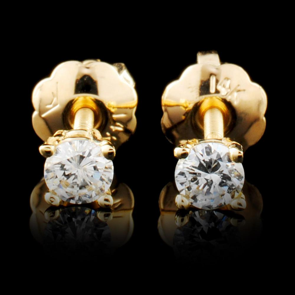 14K Gold 0.14ctw Diamond Earrings
