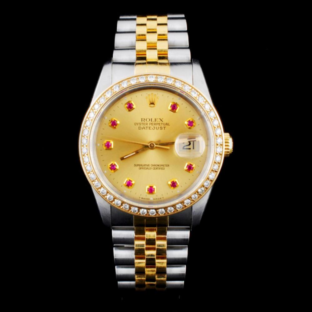 Rolex DateJust YG/SS Diamond 36mm Watch