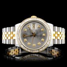 Rolex YG/SS DateJust 3.00ct Diamond Wristwatch