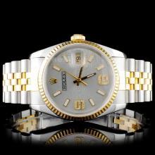 Rolex YG/SS DateJust Diamond Gents Wristwatch