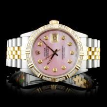 Rolex YG/SS DateJust 1.00ctw Diamond Wristwatch