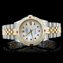 Rolex YG/SS DateJust 1.50ct Diamond Gent's Watch