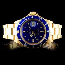 Rolex 18K YG Submariner Men's Wristwatch