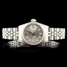 Rolex DateJust 18K & SS Ladies Wristwatch