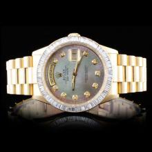 Rolex 18K YG Day-Date 3.50ct Diamond Wristwatch