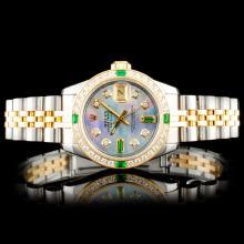 Rolex DateJust YG/SS 1.00ct Diamond Wristwatch