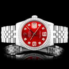 Rolex DateJust SS 1.50ct Diamond Wrsitwatch