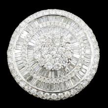 18K White Gold 3.78ctw Diamond Ring