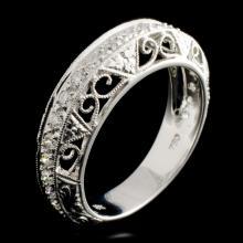 18K Gold 0.38ctw Diamond Ring