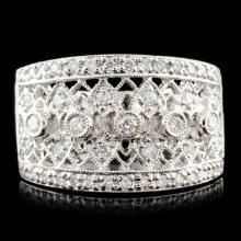 18K Gold 0.40ctw Diamond Ring