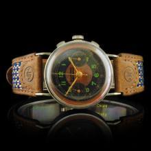 Longines Swiss 17-Jewel 34mm Chronograph Watch