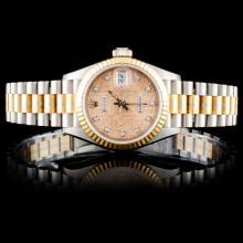 Rolex Tridor Gold DateJust Diamond Ladies Watch
