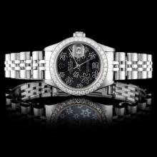 Rolex SS DateJust Ladies 1.00ct Diamond Wristwatch