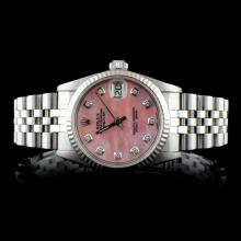 Rolex SS DateJust Mid-Size Wristwatch