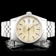 Rolex SS Oyster DateJust 16234 Wristwatch