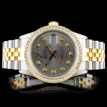 Rolex YG/SS DateJust 1.50ct Diamond Gents Wristwat