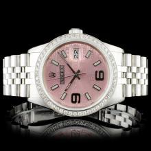 Rolex SS 36MM DateJust 1.50ct Diamond Wristwatch