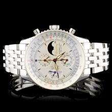 Breitling SS Montbrilliant Moonphase Wristwatch