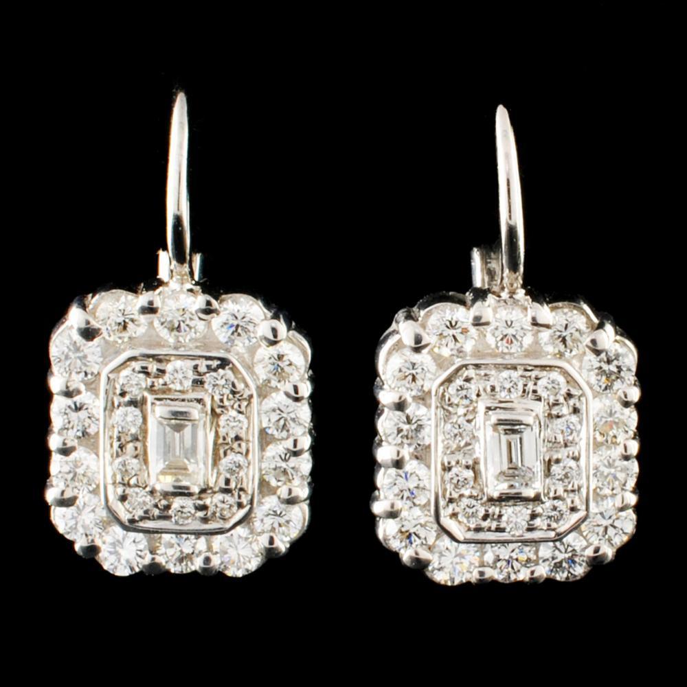 14K Gold 0.82ctw Diamond Earrings