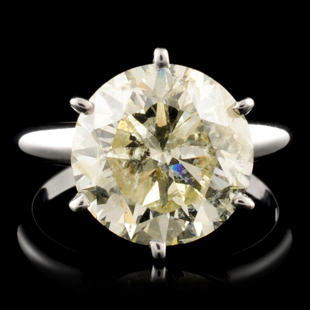 18K Gold 5.04ctw Solitaire Diamond Ring