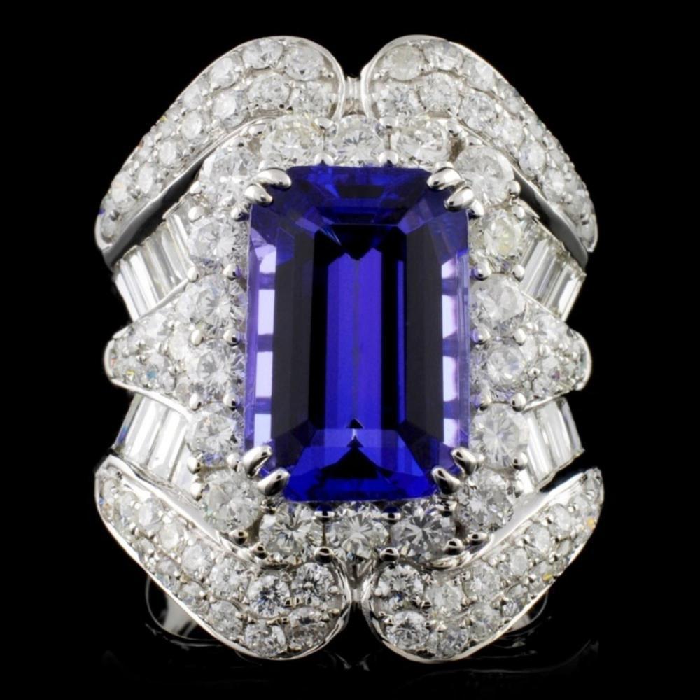 18K White Gold 5.95ct Tanzanite & 3.40ct Diamond R