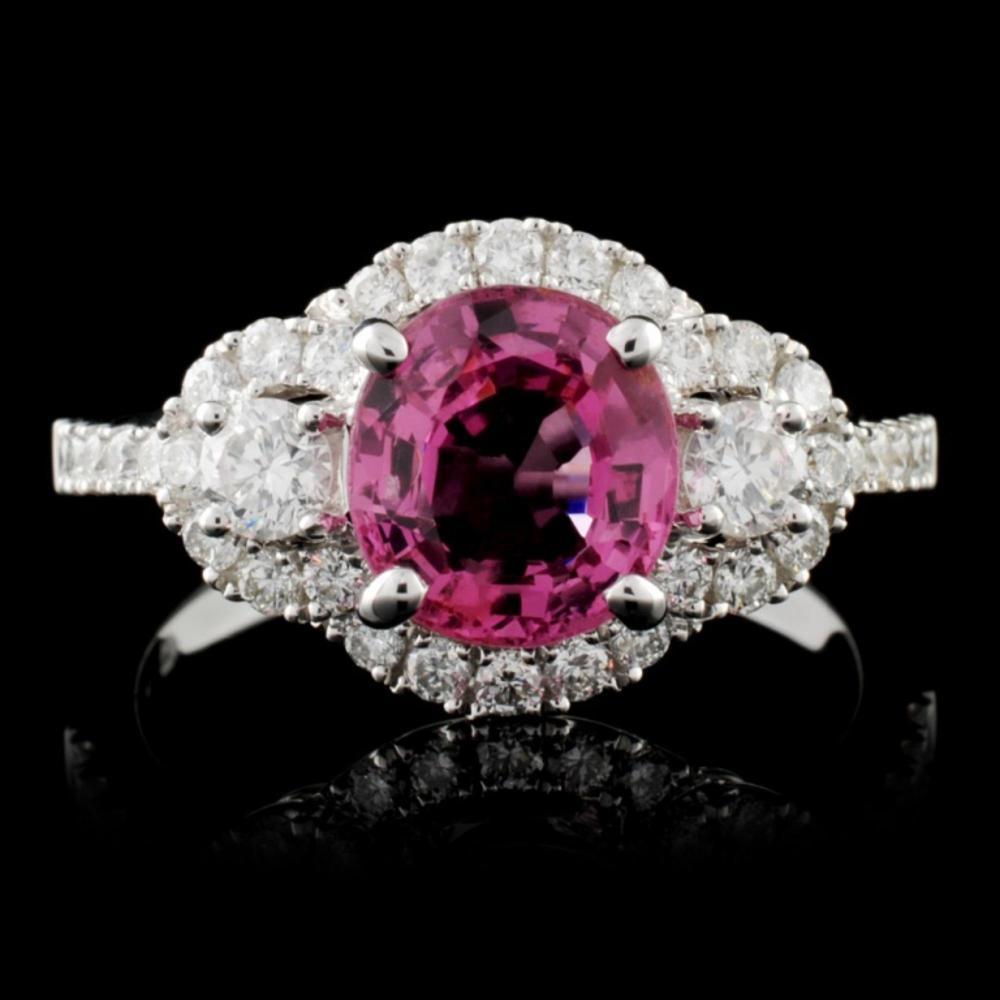18K White Gold 1.81ct Spinel & 0.64ct Diamond Ring