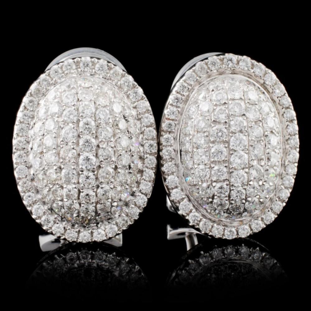 18K White Gold 1.17ct Diamond Earrings