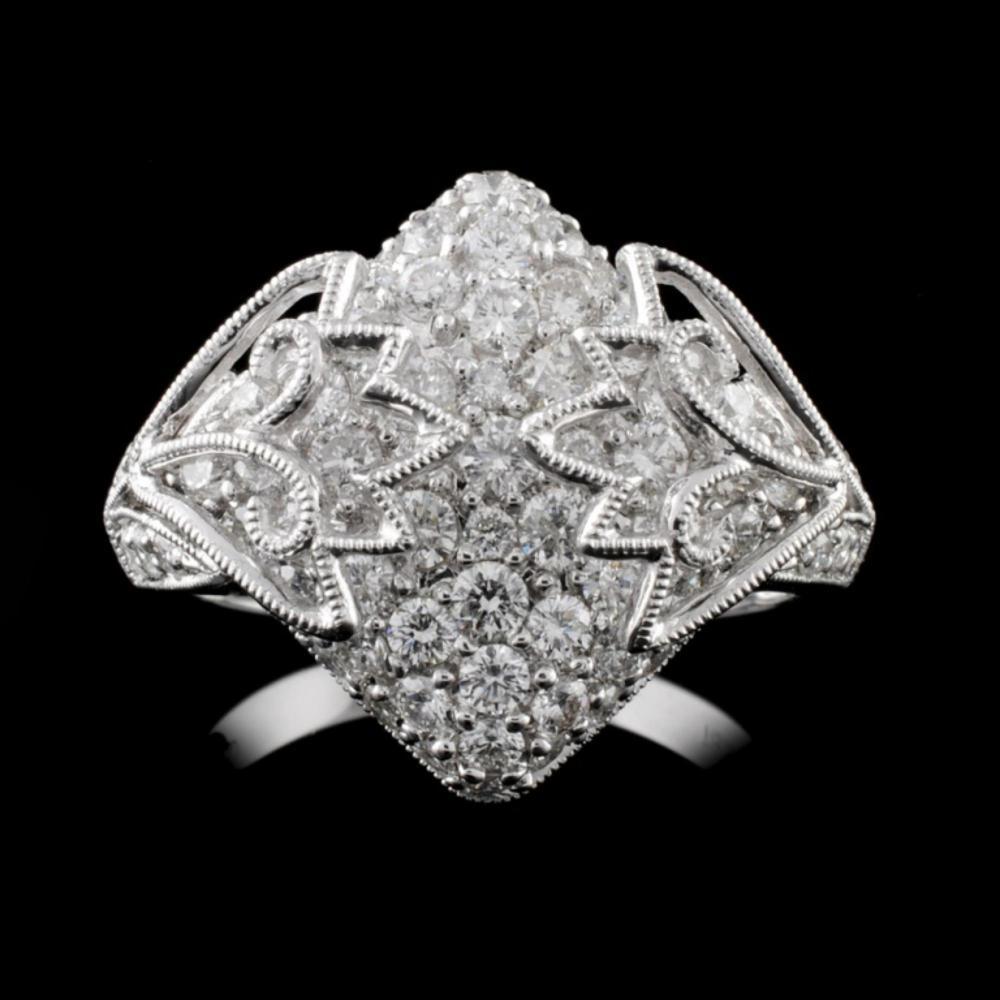 18K White Gold 1.59ct Diamond Ring