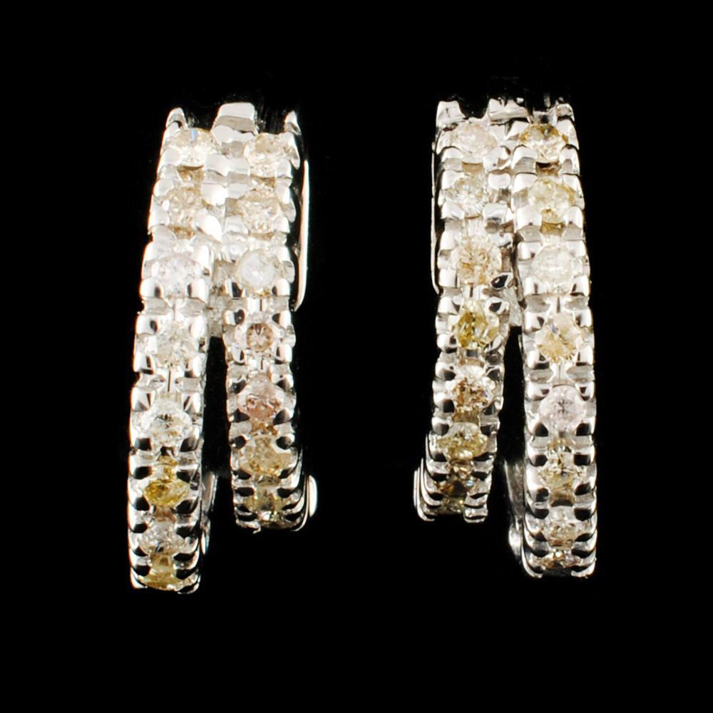 14K Gold 0.41ctw Diamond Earrings