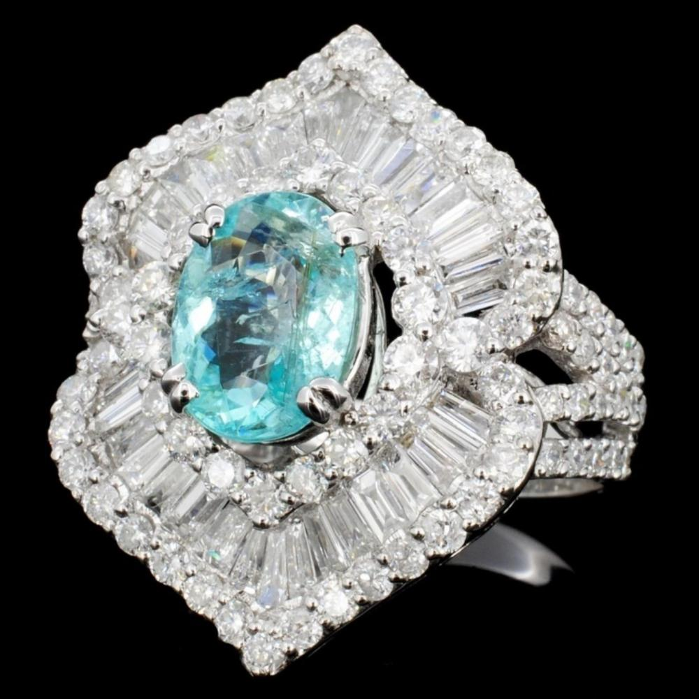 18K Gold 1.84ct Tourmaline & 2.83ct Diamond Ring
