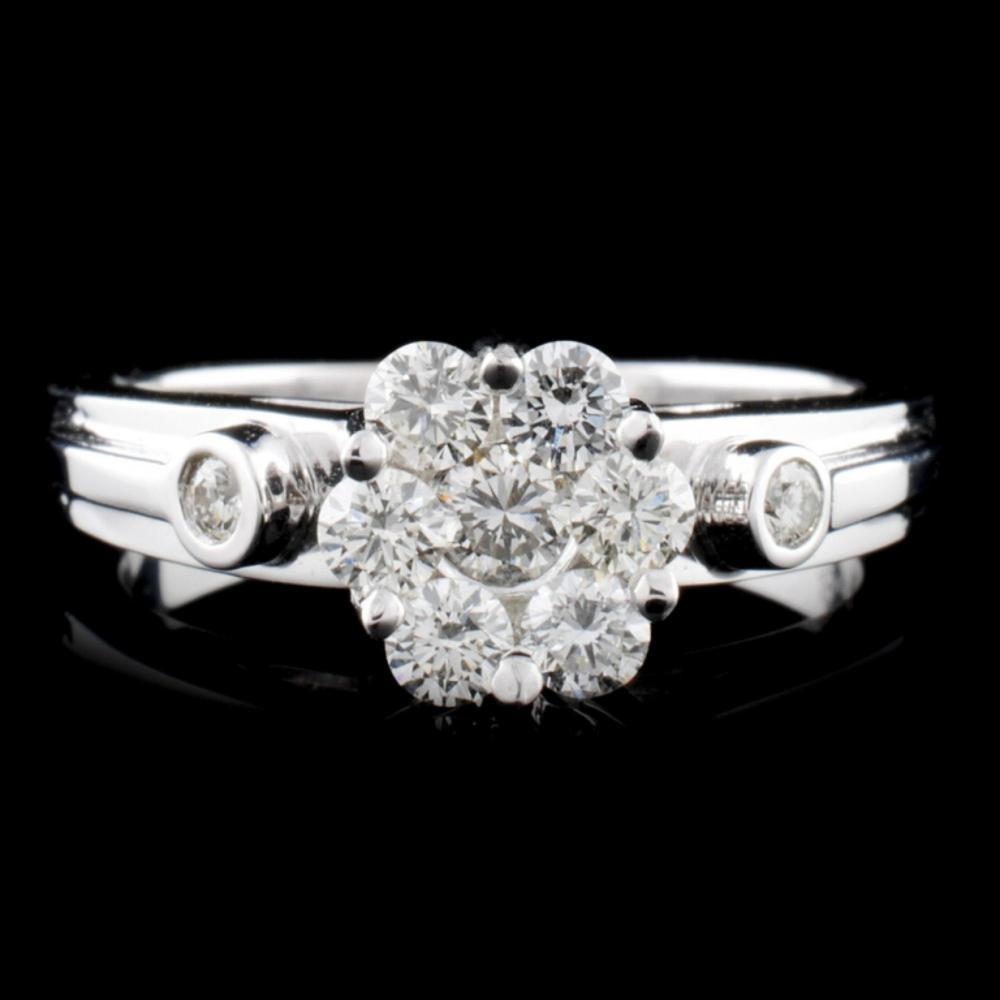 18K White Gold 0.55ctw Diamond Ring