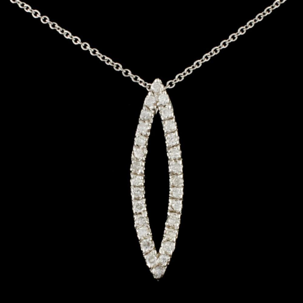 14K Gold 0.43ctw Diamond Pendant