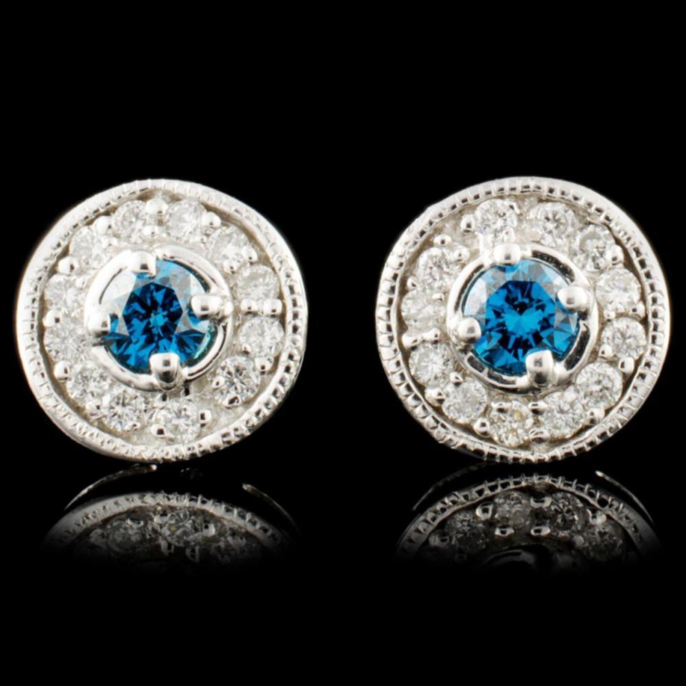 14K Gold 0.53ctw Fancy Color Diamond Earrings