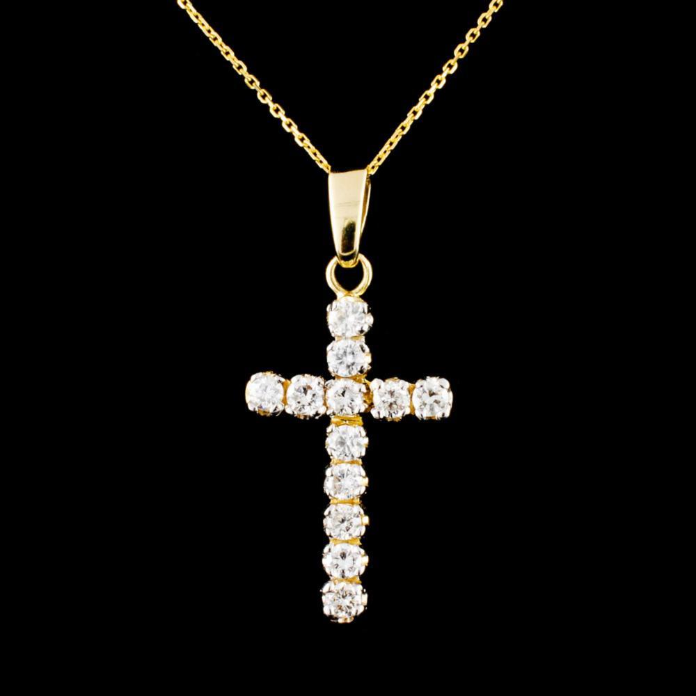 14K Gold 0.54ctw Diamond Pendant