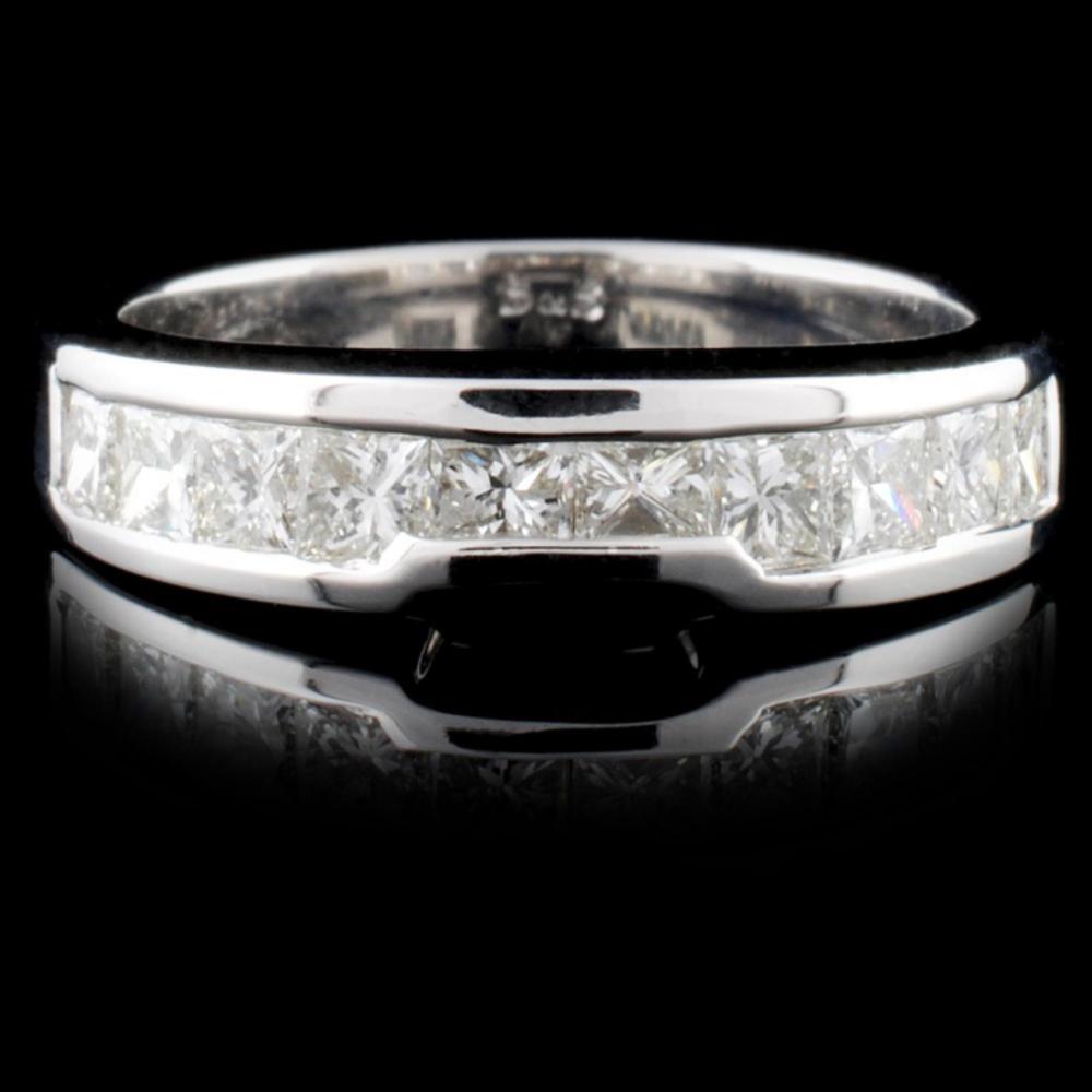 18K White Gold 0.71ctw Diamond Ring