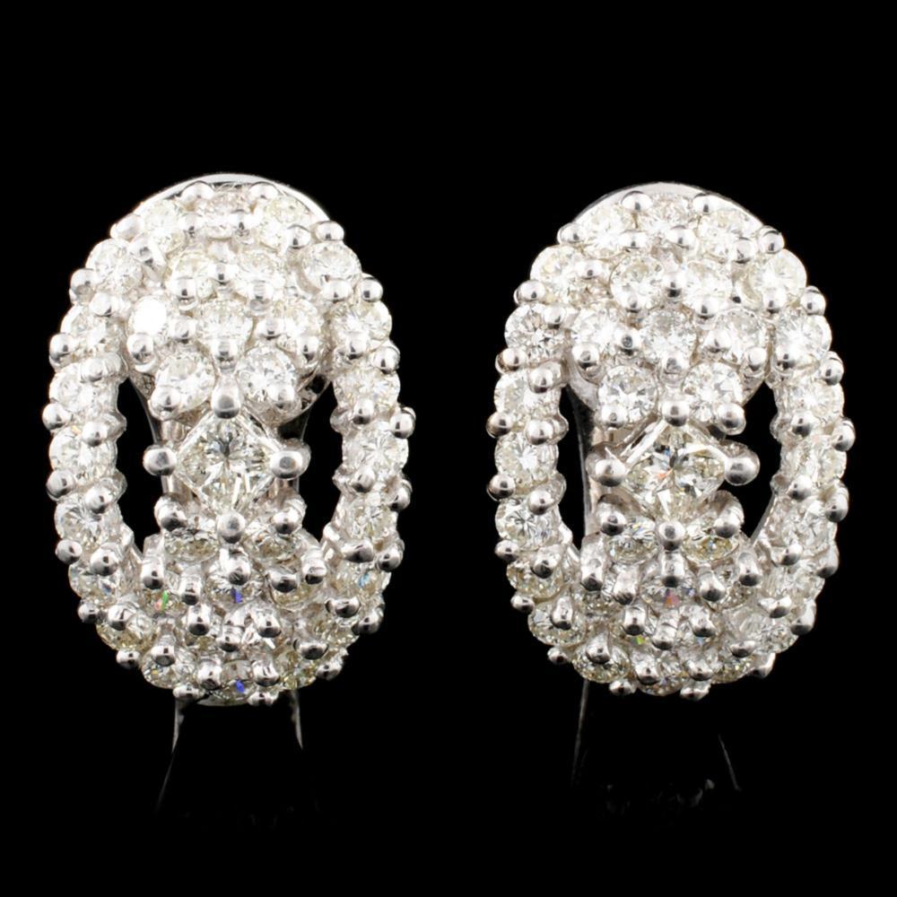18K Gold 1.96ctw Diamond Earrings