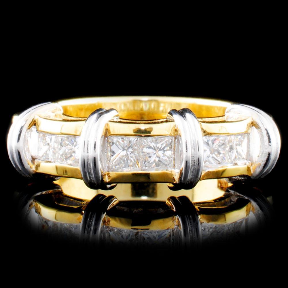 18K Gold 1.11ctw Diamond Ring