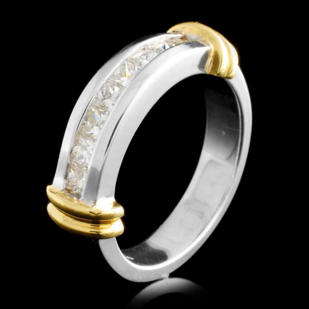 18K TT Gold 0.65ctw Diamond Ring
