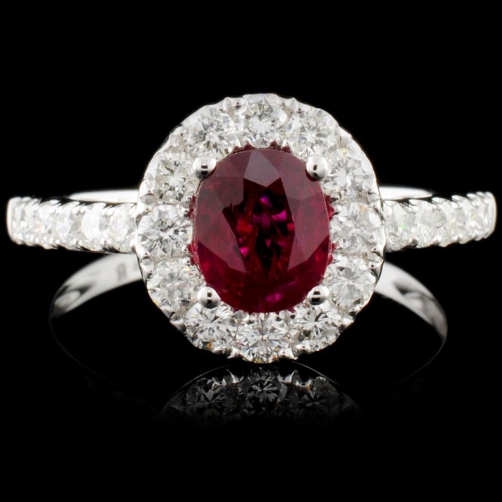 18K Gold 1.02ct Ruby & 0.75ct Diamond Ring