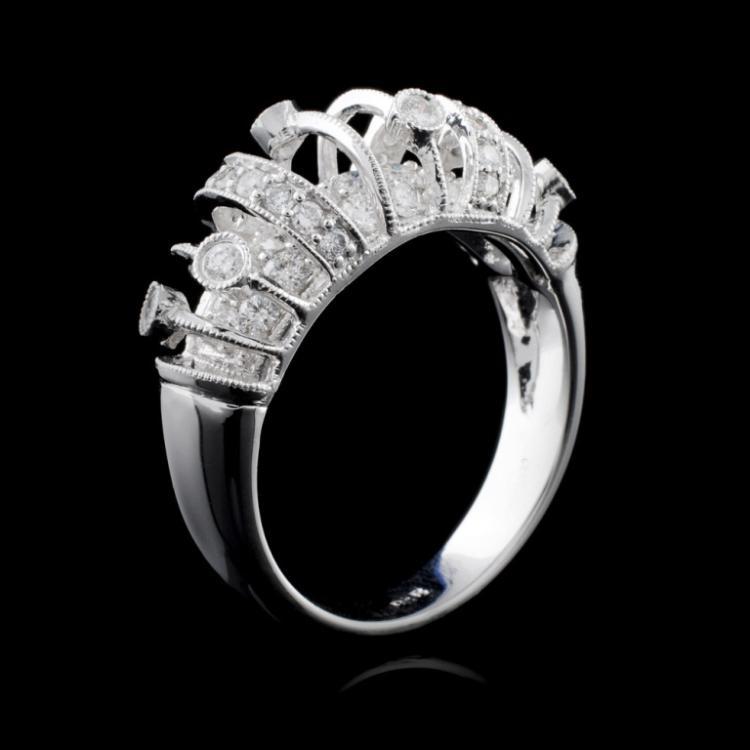 18K White Gold 0.89ct Diamond Ring