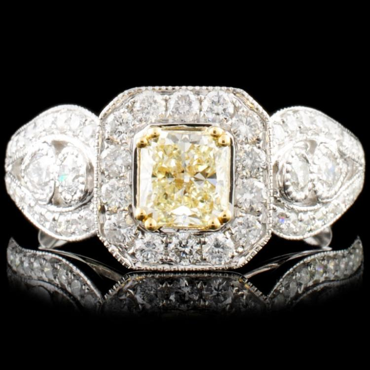 18K Gold 1.51ctw Fancy Color Diamond Ring