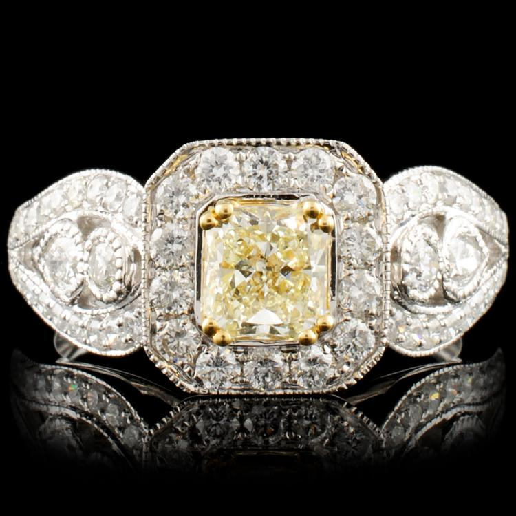 18K Gold 1.51ctw Fancy Diamond Ring