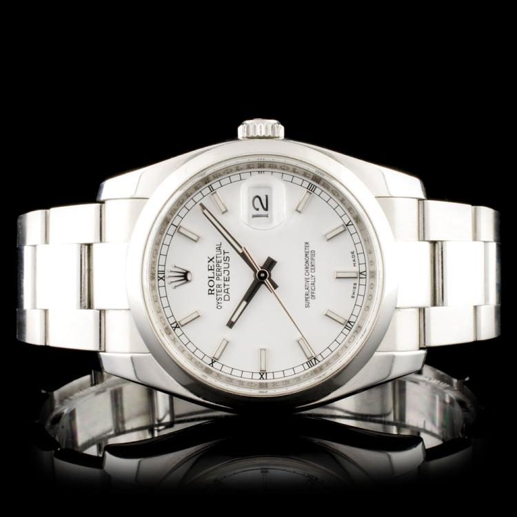 Rolex SS DateJust 116200 Oyster Wristwatch