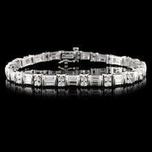 14K White Gold 4.73ctw Diamond Bracelet