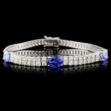 Lot 3: 18K Gold 3.96ct Tanzanite & 5.31ct Diamond Bracele