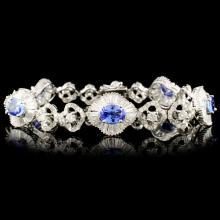 Lot 6: 18K Gold 3.55ct Tanzanite & 4.81ctw Diamond Bracel