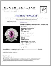 Lot 15: 18K White Gold 2.18ct Sapphire & 1.85ct Diamond Ri