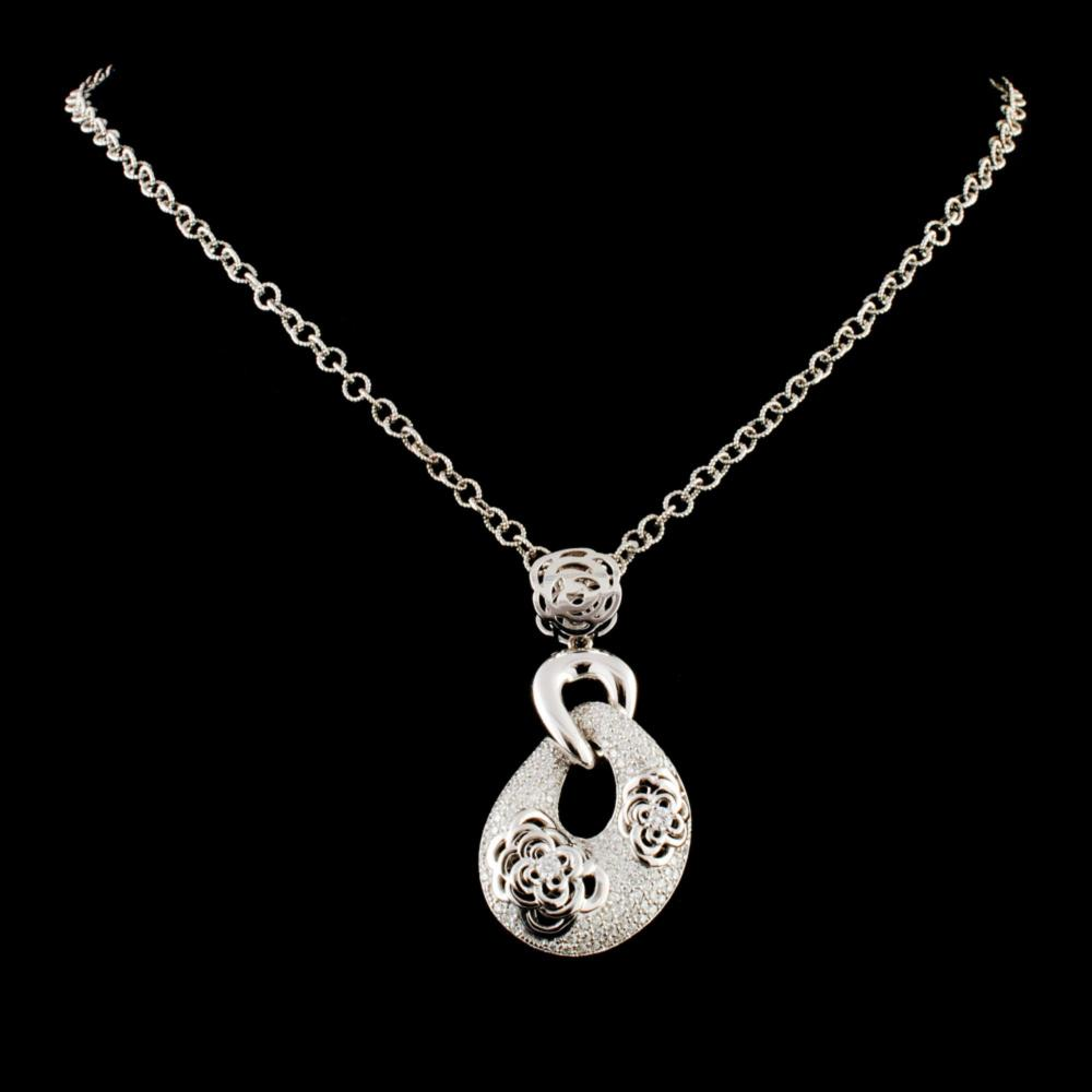 14K Gold 1.29ctw Diamond Pendant
