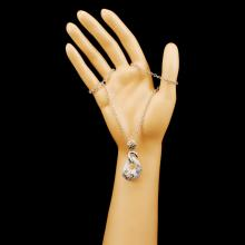 Lot 24: 14K Gold 1.29ctw Diamond Pendant