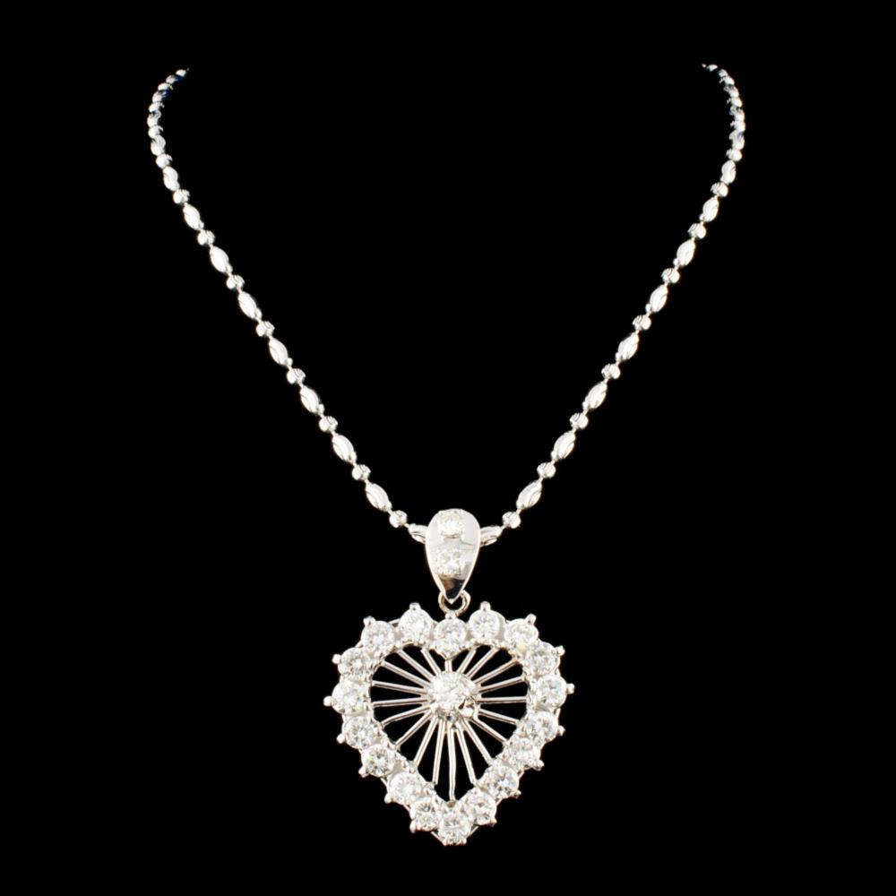 18K Gold 3.29ctw Diamond Necklace